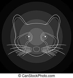 Black raccoon.