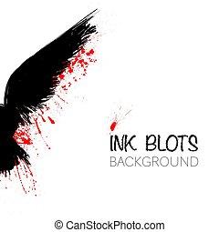 Black raven background