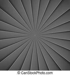 Black rays in paper style background