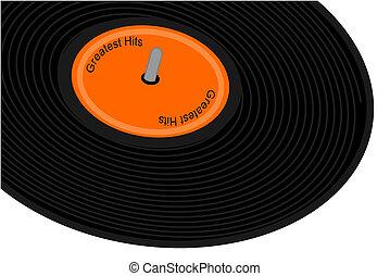 Black record album
