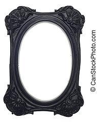 Black Rectangle Modern Vibrant Colored Empty Frame