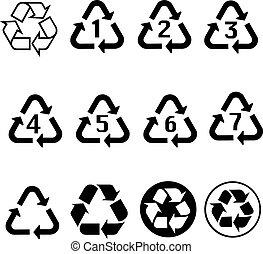 Black Recycle symbol for banner, general design print and websites. Illustration vector.