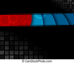 Black, red and blue background