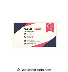 Black Red Business Abstract Name Card Vector Image