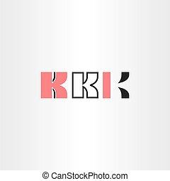 black red letter k logo set