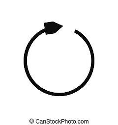 Black refresh arrow icon