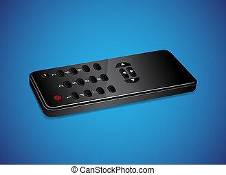 Black remote controller. EPS10 vector