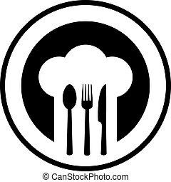 black restaurant sign