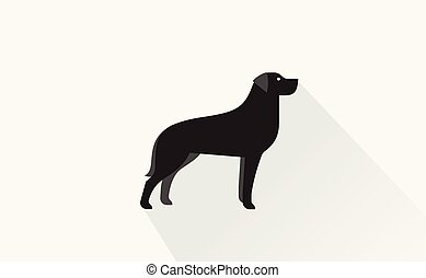 black retriever icon