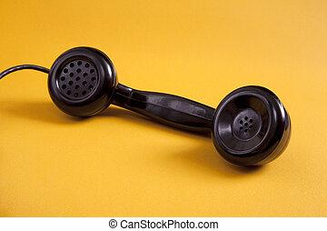 Black retro phone reciever