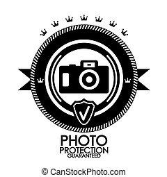 Black retro vintage label   tag   badge   photo protection