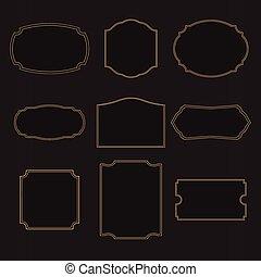 Black Retro vintage label template