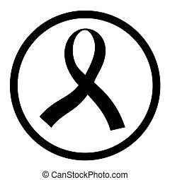 Black ribbon - Design of black ribbon icon