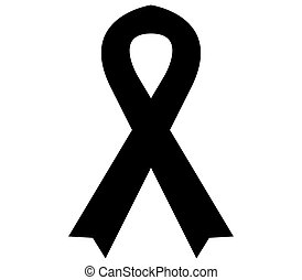 Black ribbon  icon