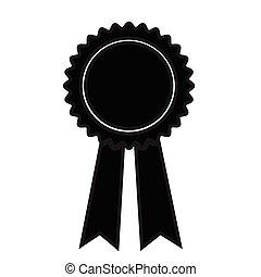 black ribbon icon Vector Illustration