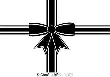 Black ribbon isolated