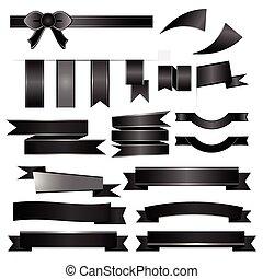 Black ribbons