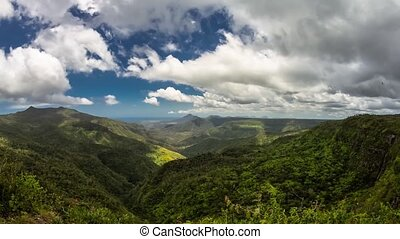 Black River Gorge Clouds Timelapse - Timelapse showing...