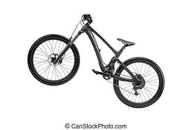 black road bike isolated