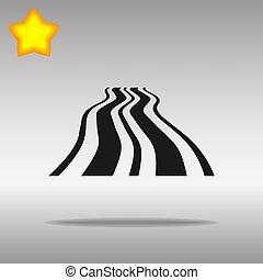 black Road Icon button logo symbol concept high quality