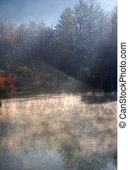 Black Rock Mountain Lake Mist