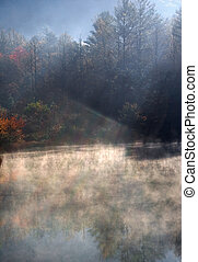 Black Rock Mountain Lake Mist