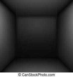 Black room - Black simple empty room interior. Illustration ...