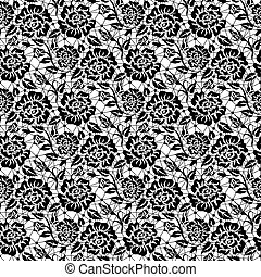 Black rose lace