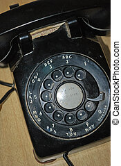 Black rotary phone - Antique black rotary phone