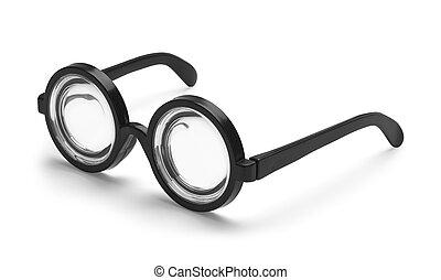 Bottle Glasses - Black Round Bottle Glasses Isolated on ...