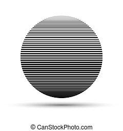 Black round logo design. Vector illustration