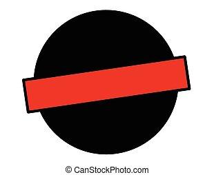 Black round stamp