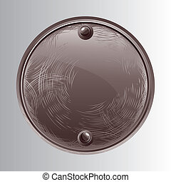 Round Stone - Black Round Stone Tablet, vector for your...