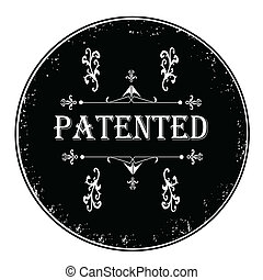 Black rubber petented stamp