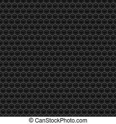 Black rubber texture. Seamless vector