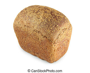 Black rye bread with caraway seeds