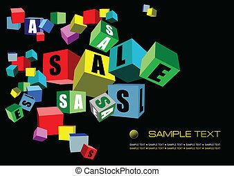 Black sale banner, Vector