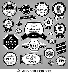 Black sale labels set