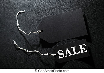 Black Sale tag background