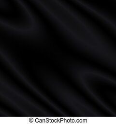 Black Satin/Silk/Velvet Background - Abstract Illustration...