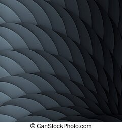Black scales. Abstract geometric background with light effect.