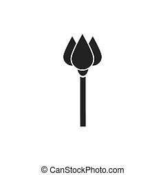 Black sceptre flat vector icon