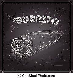 black , scetch, burrito, plank