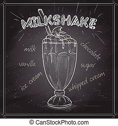 black , scetch, milkshake, plank
