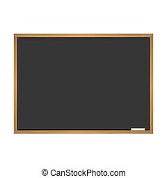 Black school blackboard vector illustration