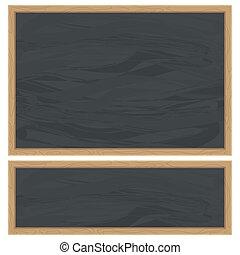 black school chalkboard
