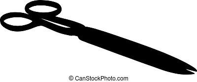 black scissors on white background