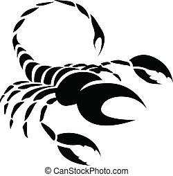 Black Scorpio Zodiac Star Sign - Illustration of Black...