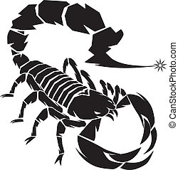 Black Scorpion - A dangerous scorpion preparing to use a...