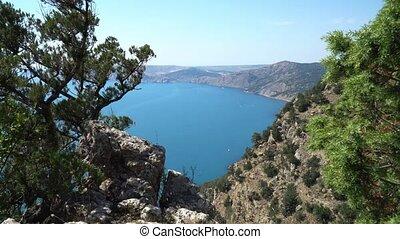 Black Sea Bay Crimean Mountains Summer Sevastopol